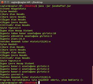 Java-2014-1 jar ve paket uygulaması